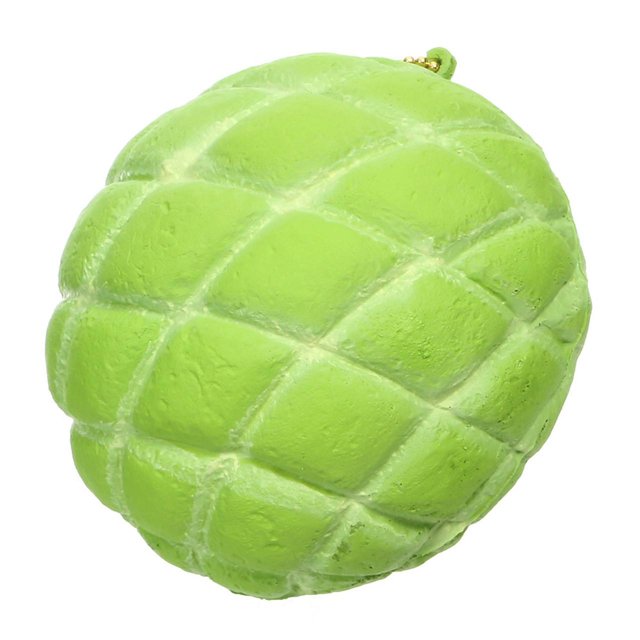 Café De N Green Cantaloupe Melonpan Squishy Toys Charms ( 45 Degree Angle )