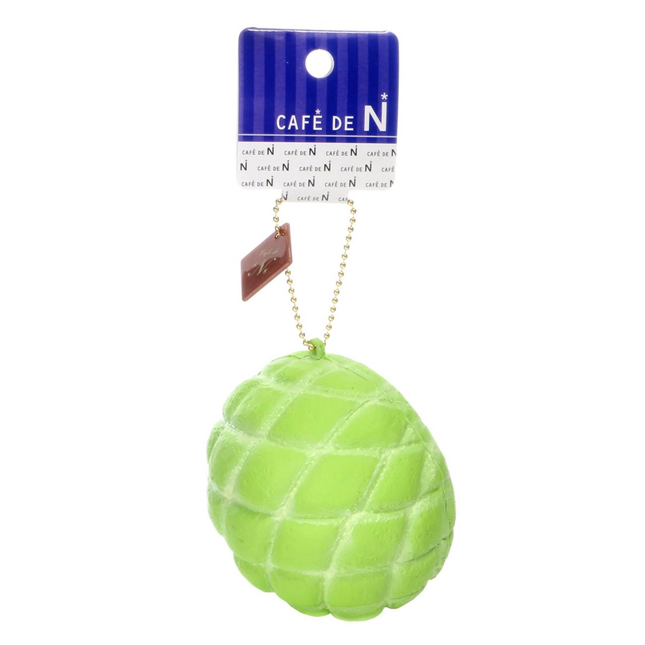 Café De N Green Cantaloupe Melonpan Squishy Toys Charms ( Tag View )