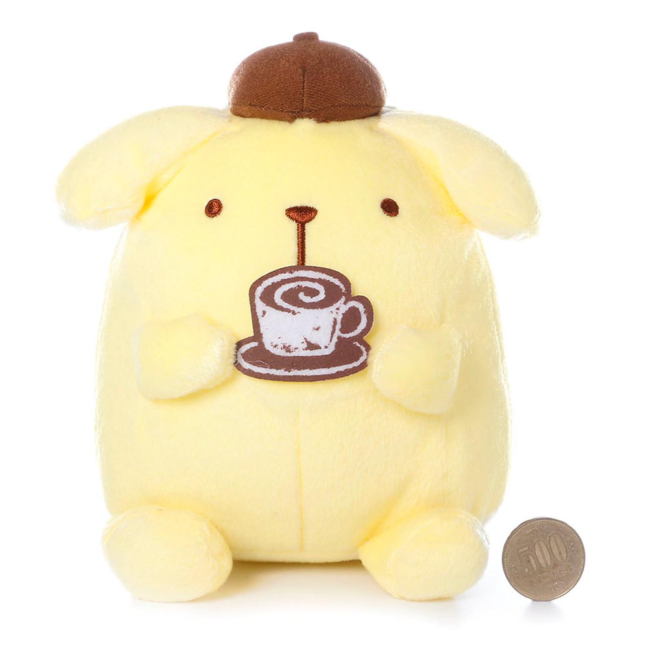 Sanrio Pom Pom Purin Cute Pudding Dog Enjoying Cafe Barista Plush Doll ( Proportion )