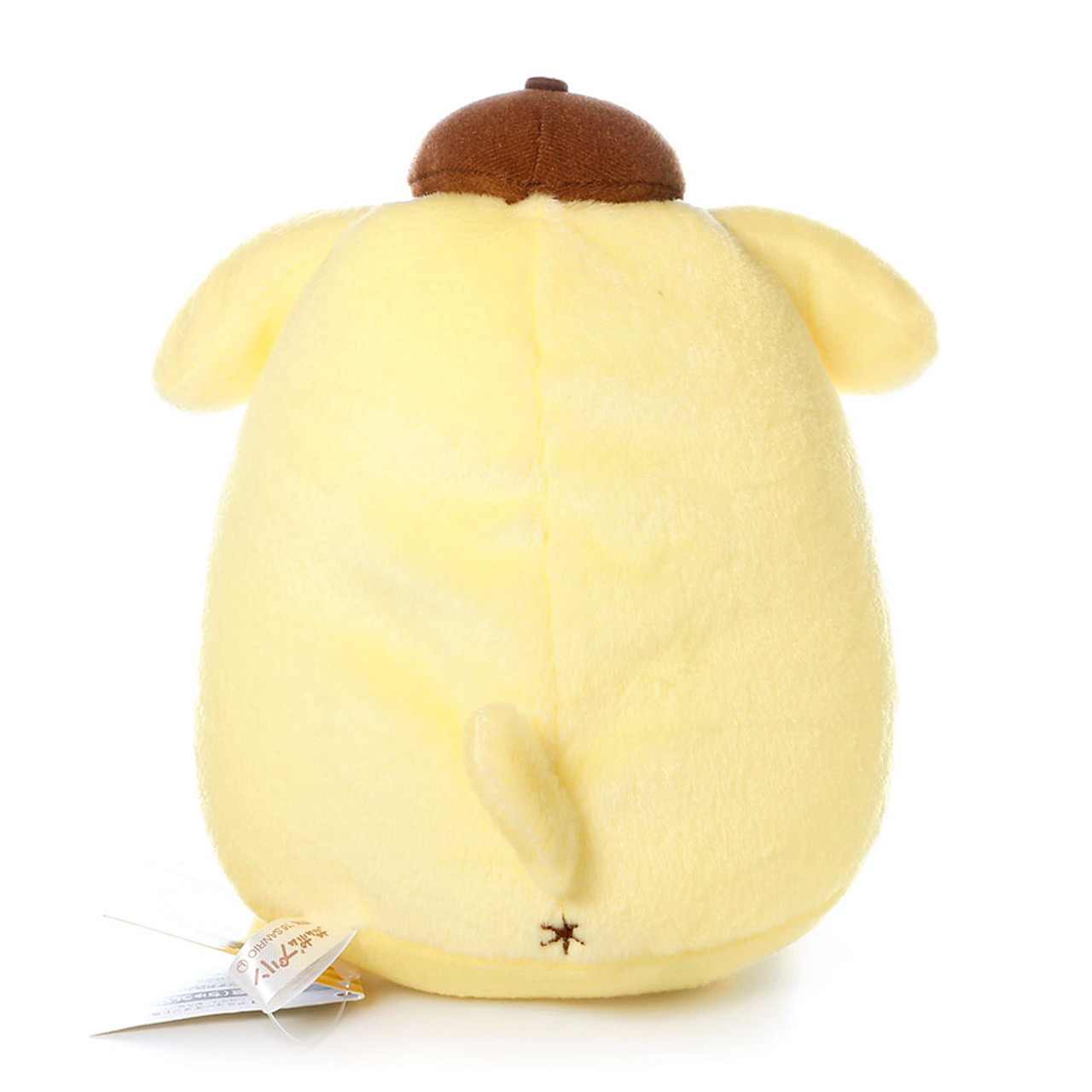 Sanrio Pom Pom Purin Cute Pudding Dog Enjoying Cafe Barista Plush Doll ( Back View )