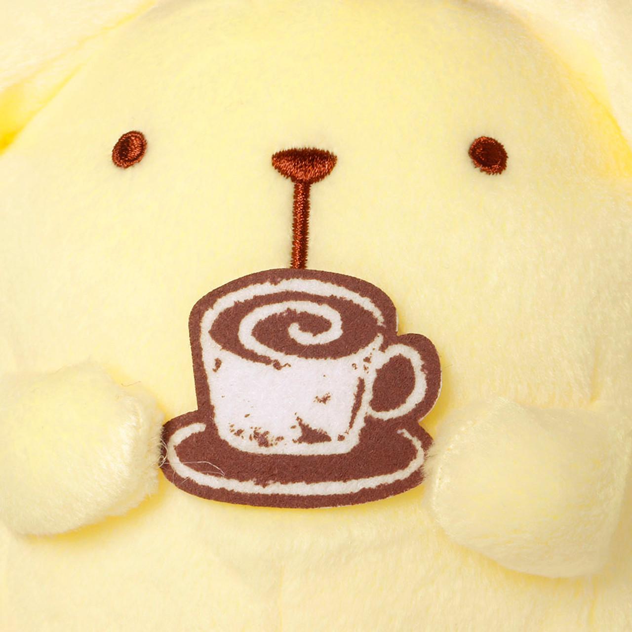 Sanrio Pom Pom Purin Cute Pudding Dog Enjoying Cafe Barista Plush Doll ( Feature 01 )