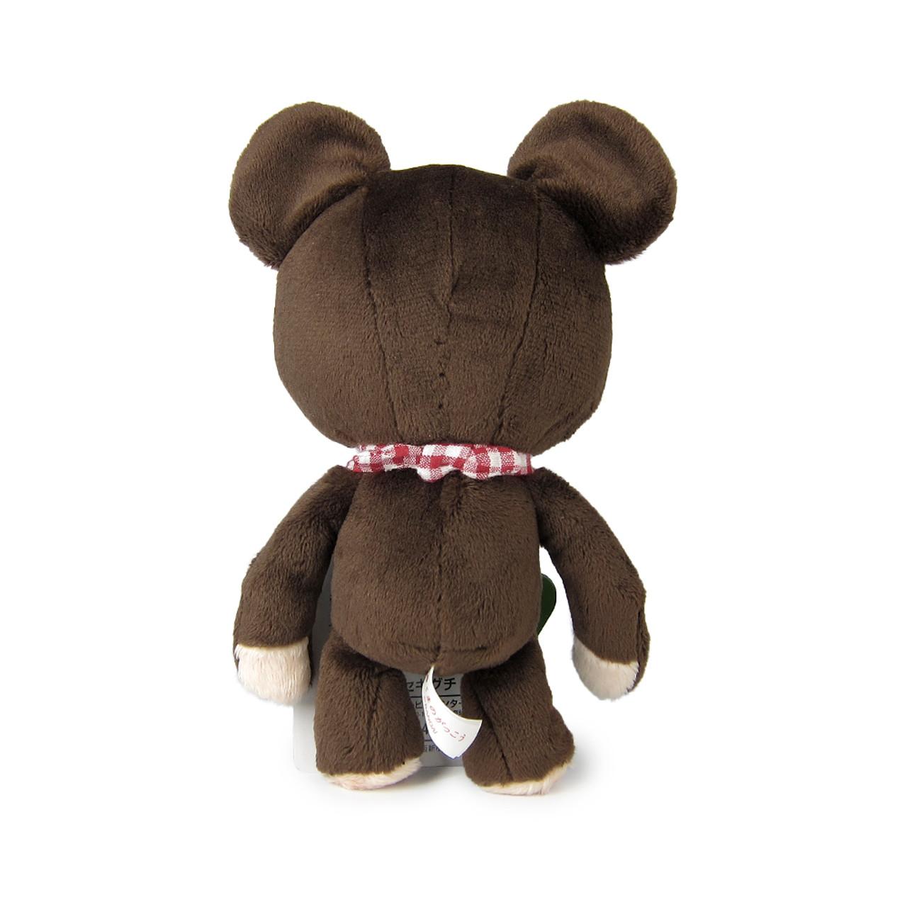 Sekiguchi The Bears School Jackie Red Checker Scarf Soft Plush Doll ( Back View )