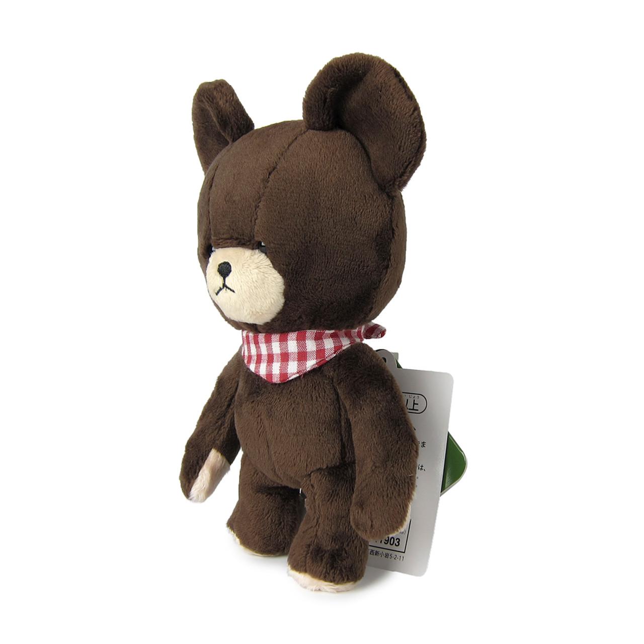 Sekiguchi The Bears School Jackie Red Checker Scarf Soft Plush Doll ( Side View )