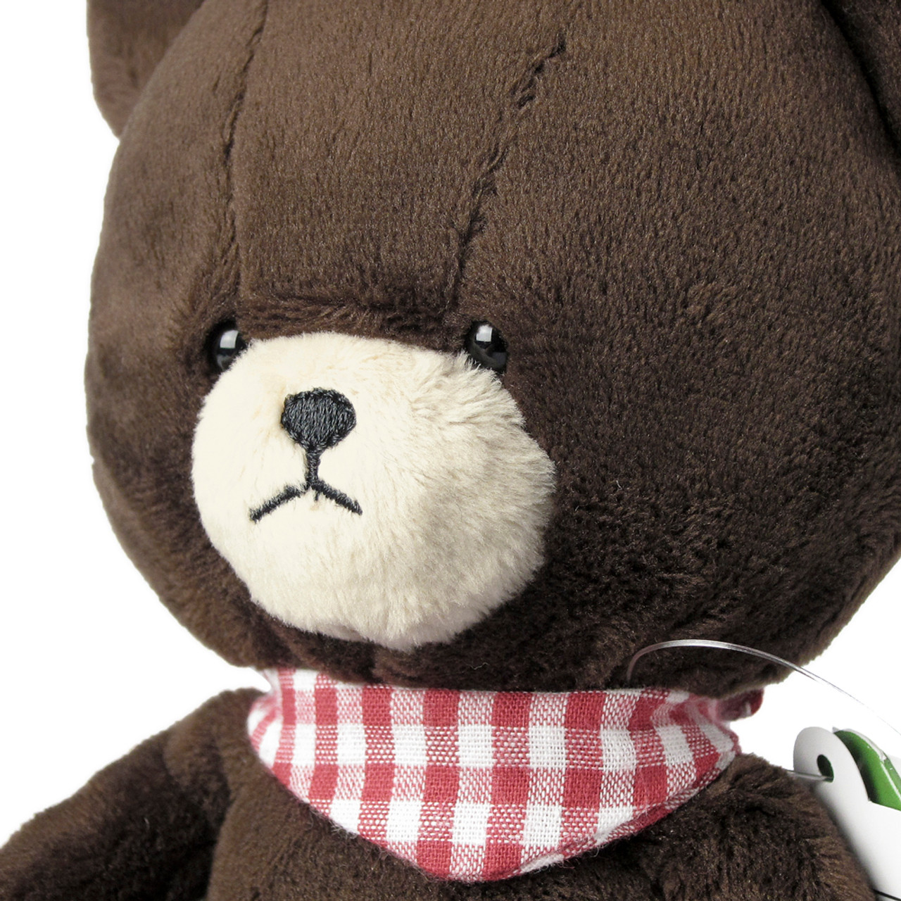 Sekiguchi The Bears School Jackie Red Checker Scarf Soft Plush Doll ( Feature 01 )