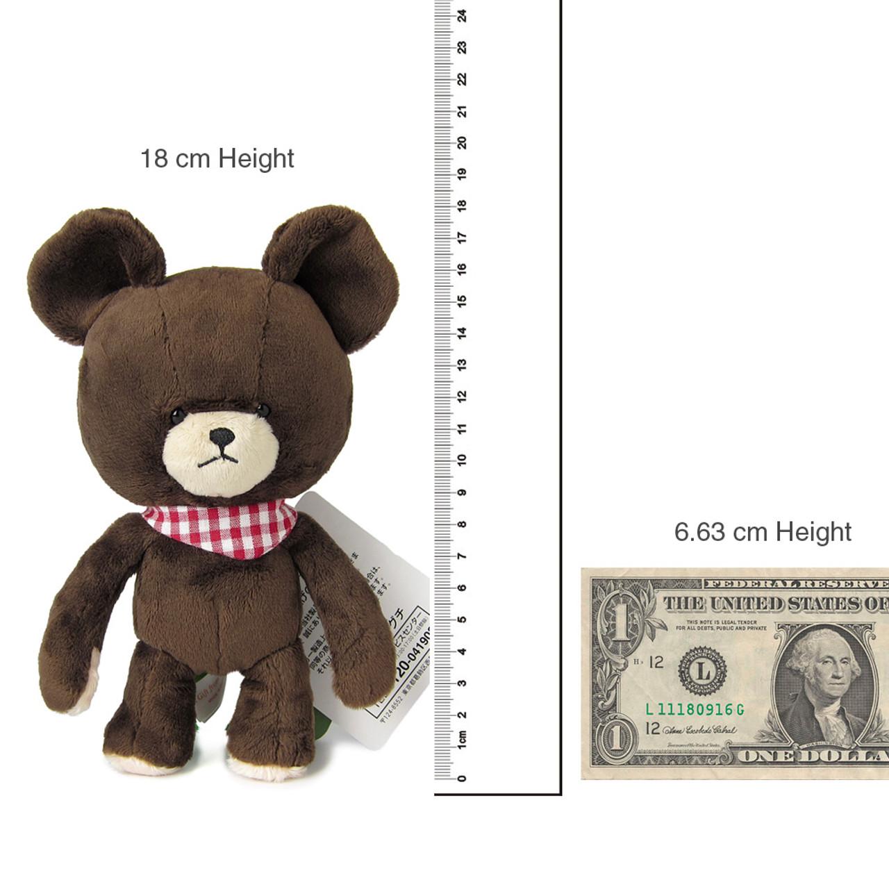 Sekiguchi The Bears School Jackie Red Checker Scarf Soft Plush Doll ( Proportion )