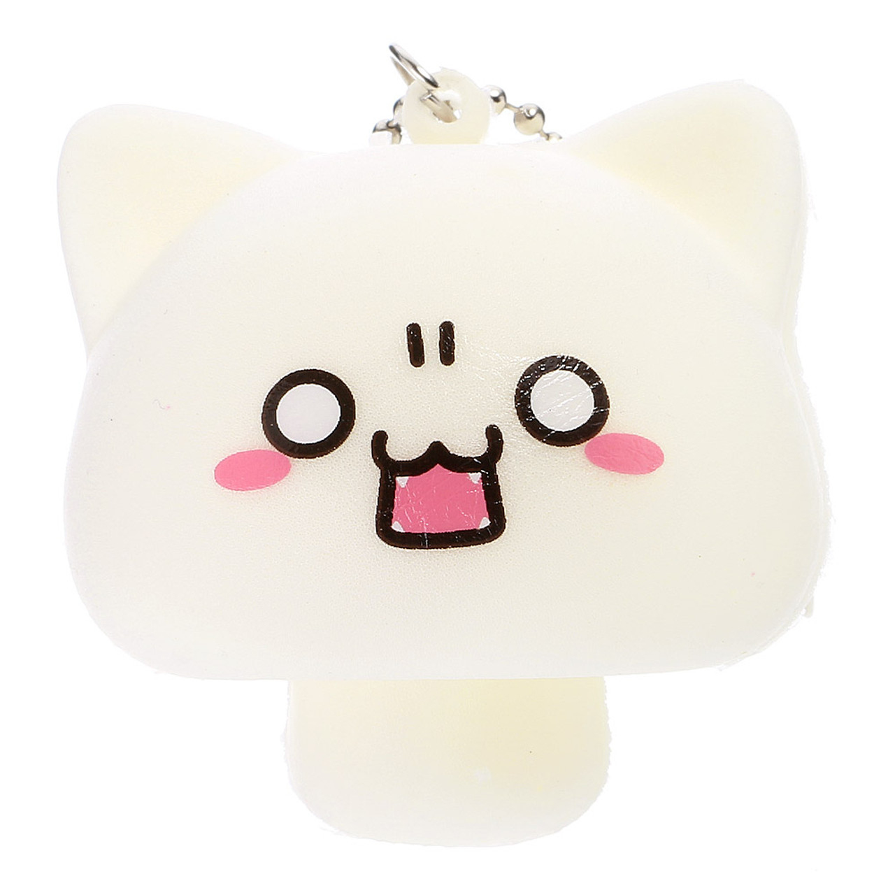 Outstanding Japan Neko Cat Facial Expression Beige Mushroom Squishy Toys Charms Interior Design Ideas Clesiryabchikinfo