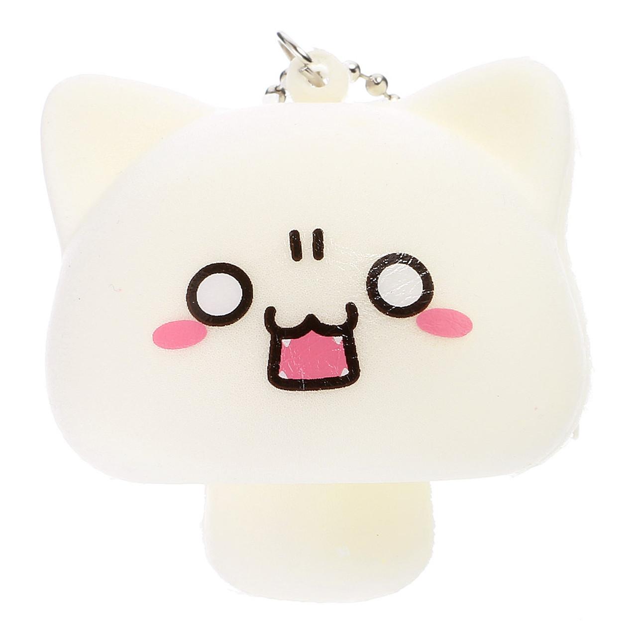 Wondrous Japan Neko Cat Facial Expression Beige Mushroom Squishy Toys Charms Download Free Architecture Designs Terstmadebymaigaardcom