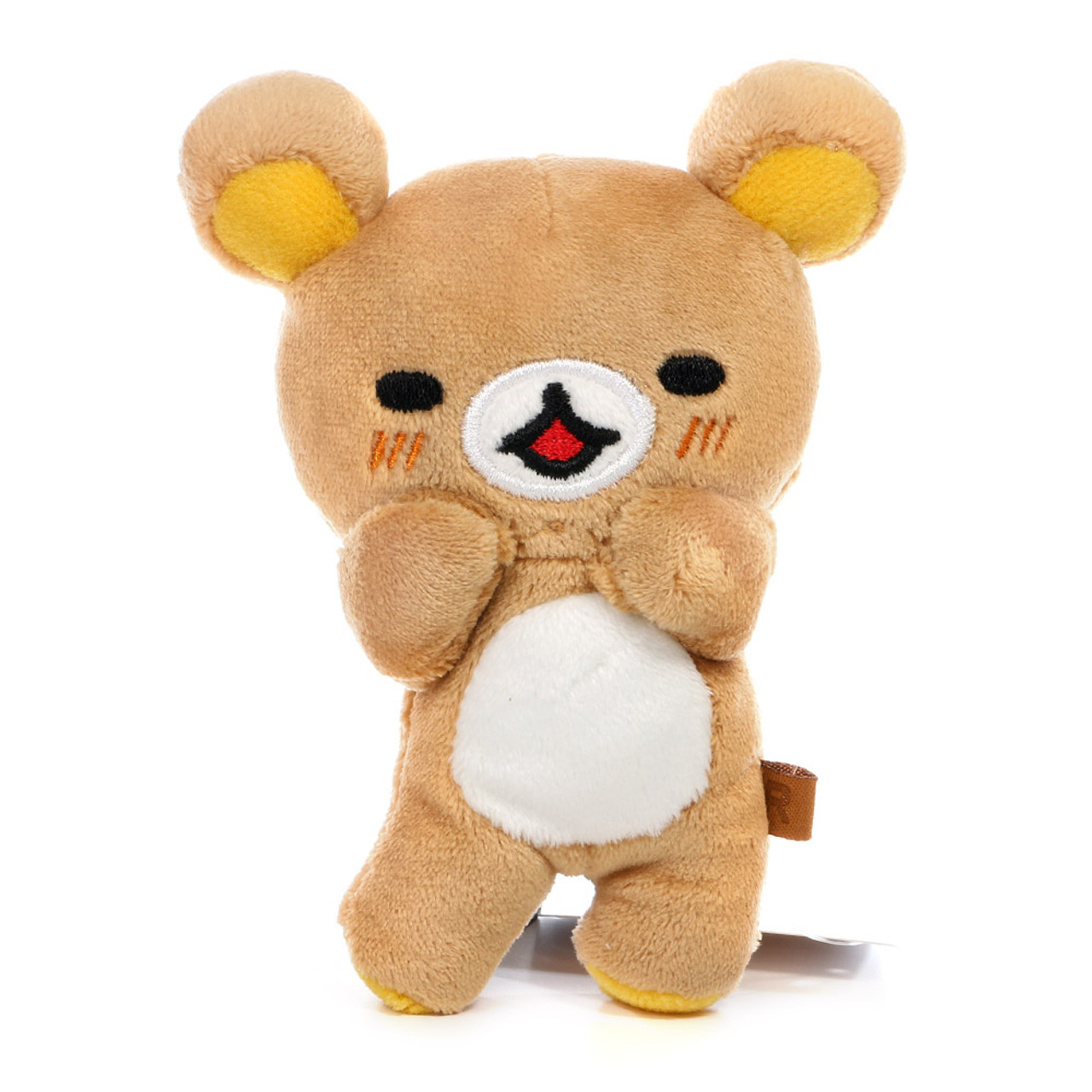 San-x Rilakkuma Relax Brown Bear Good Smile Loose Stuffed Plush Doll ( Font  View 0e0983304