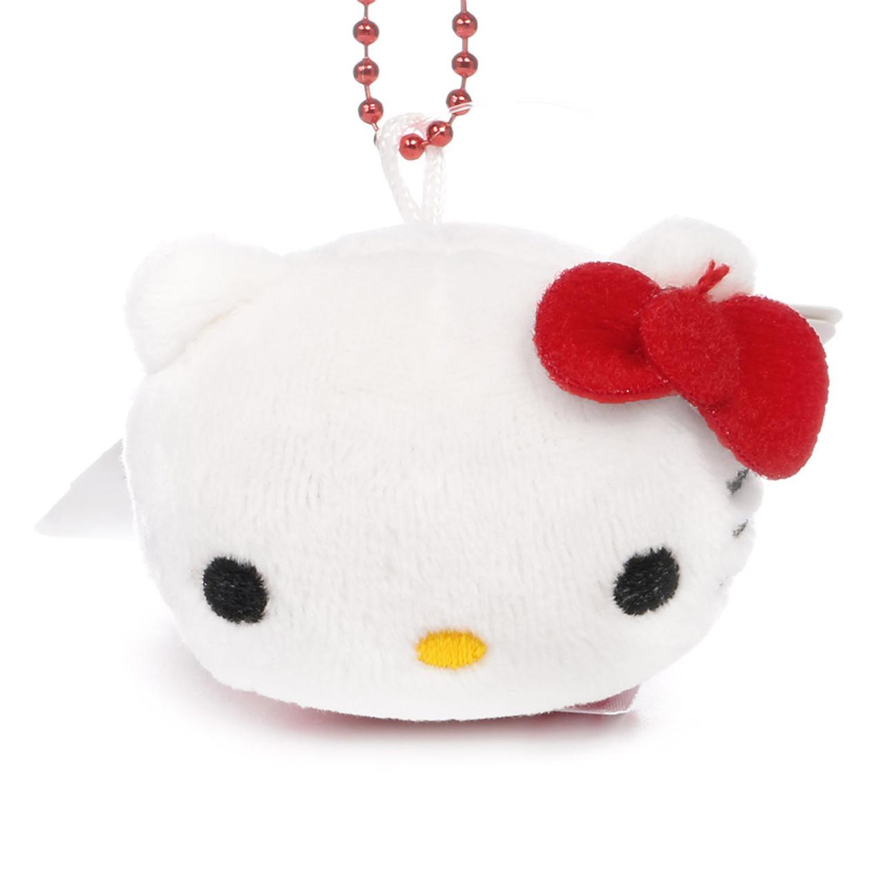 Sanrio x Monimals Hello Kitty Cute Animal Mascot Plush Keychain ( Front View )