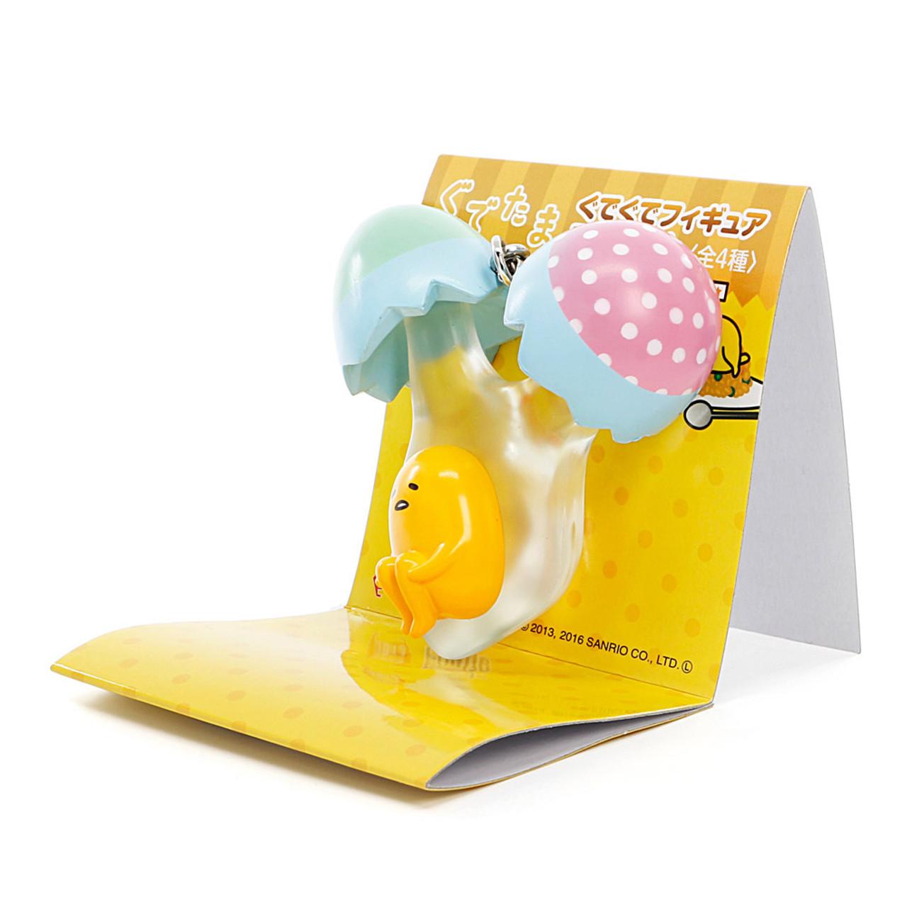 Sanrio Gudetama Lazy Egg Omelet Mascot Mobile Charms - Peel The Egg ( 45 Degree Angle View )