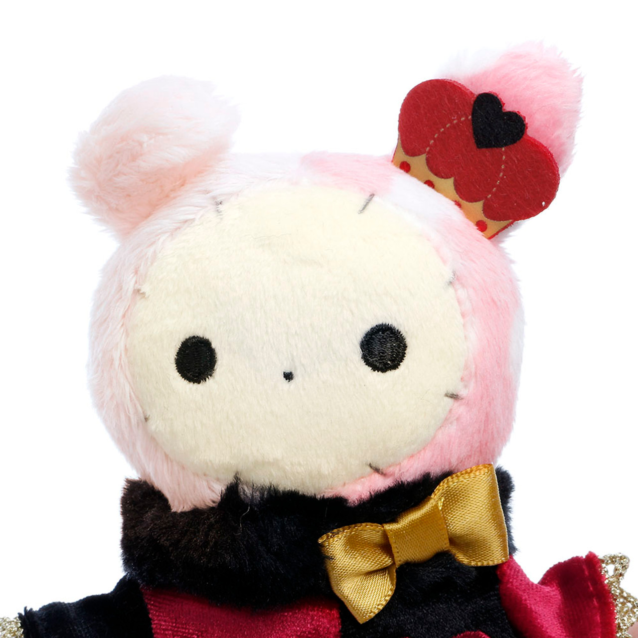 San-x Sentimental Circus Shappo Bunny Queen of Hearts Plush Doll Charms ( Close up View )