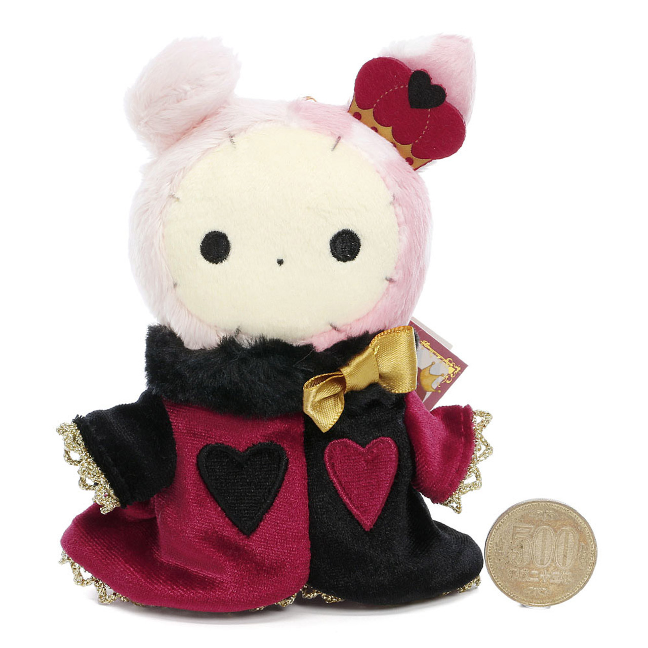San-x Sentimental Circus Shappo Bunny Queen of Hearts Plush Doll Charms ( Proportion View )