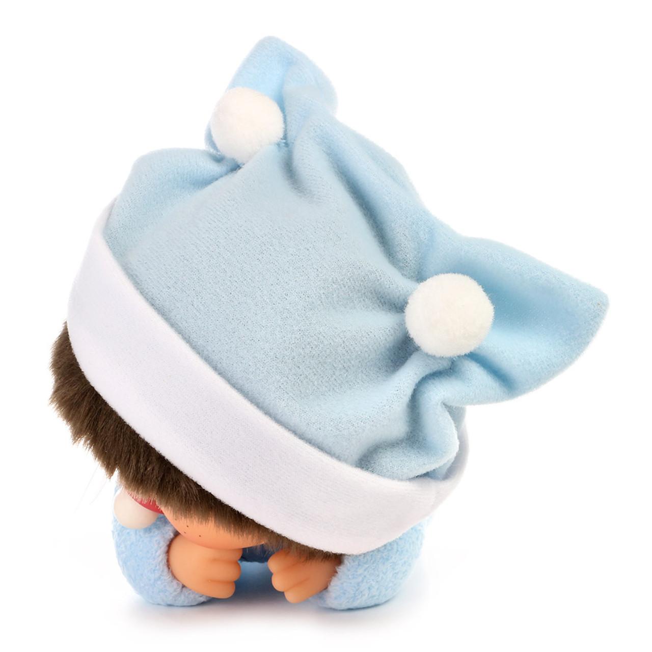 Sekiguchi Bebichhichi Monkey Boy Baby Blue Shirt Crawling Plush Doll - Medium ( Feature 01 )