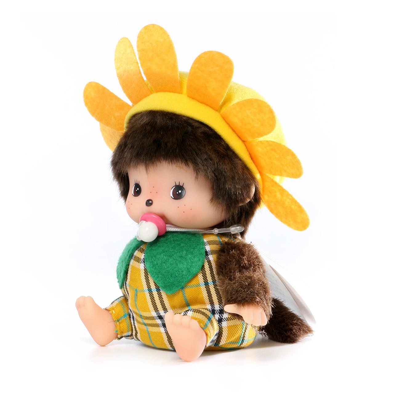Sekiguchi Bebichhichi Birk Pineapple & Sunflower Costume Baby Plush Doll ( Side View )
