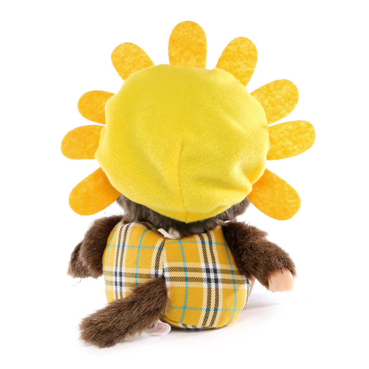 Sekiguchi Bebichhichi Birk Pineapple & Sunflower Costume Baby Plush Doll ( Back View )
