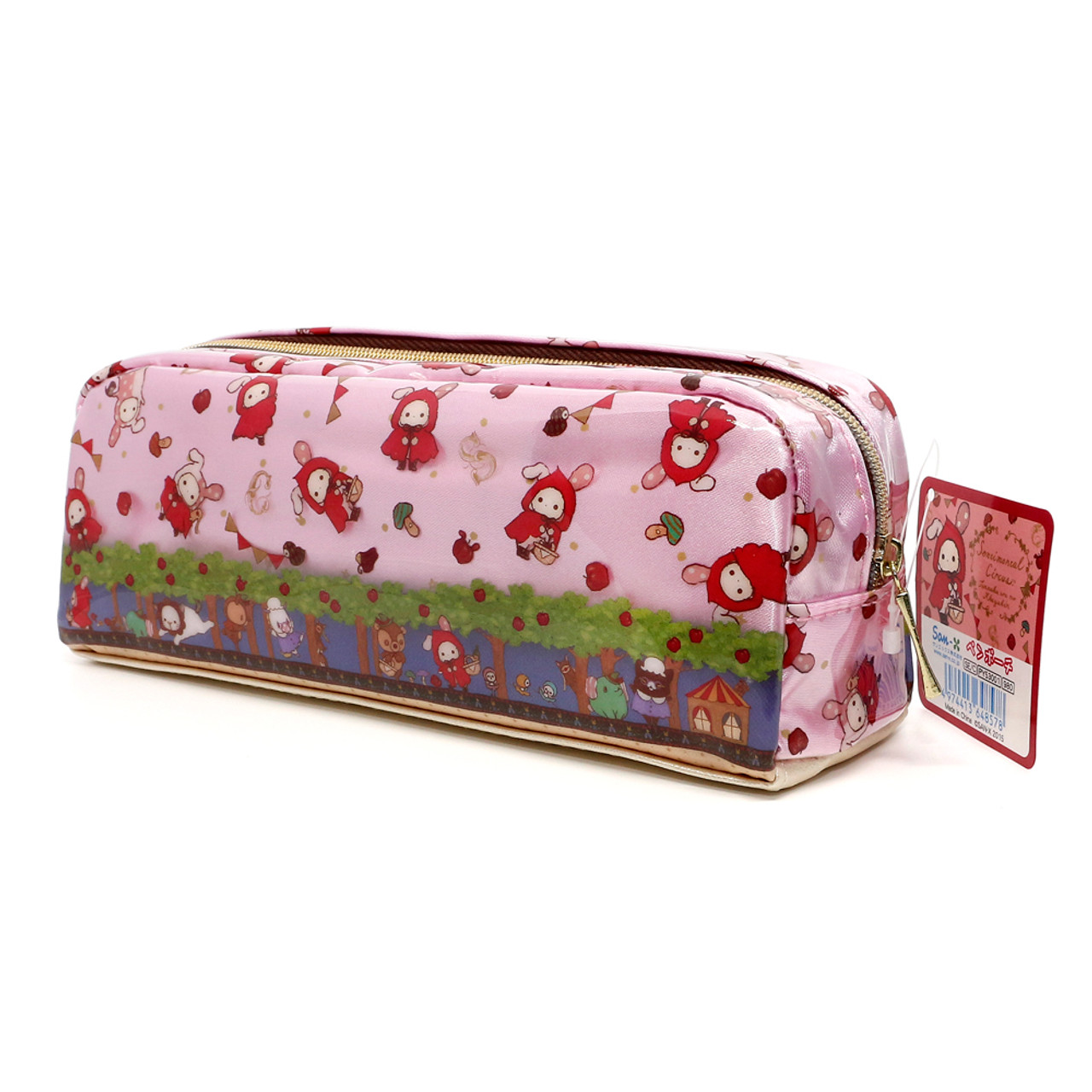 San-x Sentimental Circus Shappo Bunny Little Red Hood In Garden Pencil Case ( Side View )