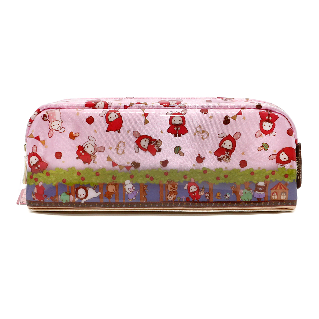 San-x Sentimental Circus Shappo Bunny Little Red Hood In Garden Pencil Case ( Back View )