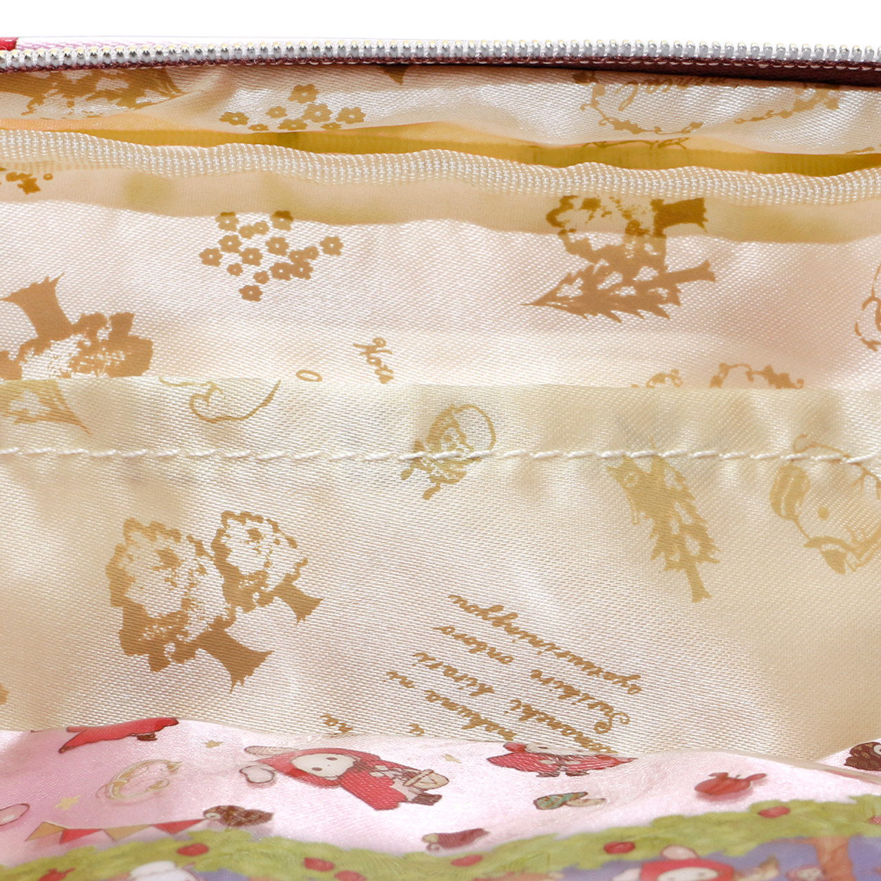 San-x Sentimental Circus Shappo Bunny Little Red Hood In Garden Pencil Case ( Inner View )
