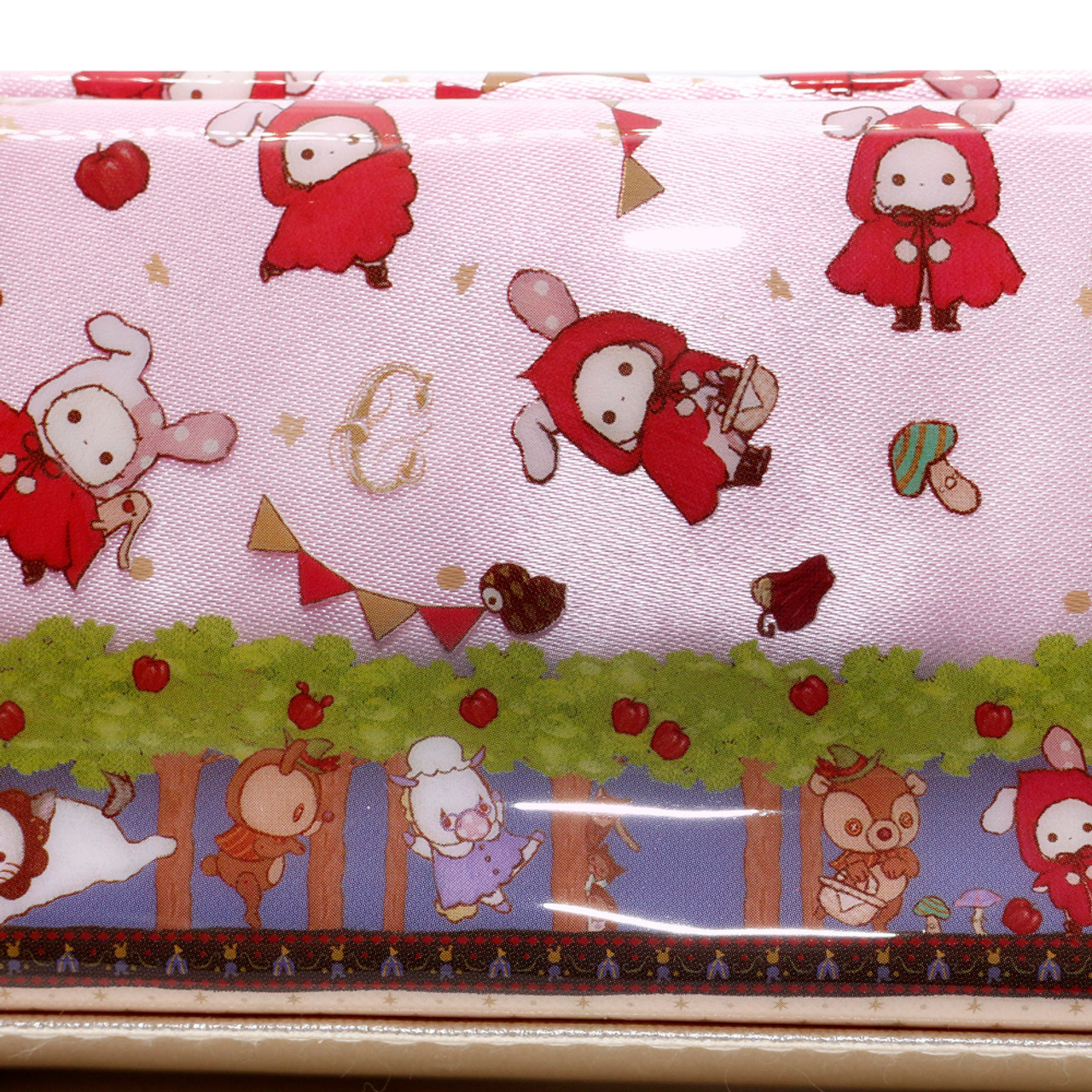 San-x Sentimental Circus Shappo Bunny Little Red Hood In Garden Pencil Case ( Close up )