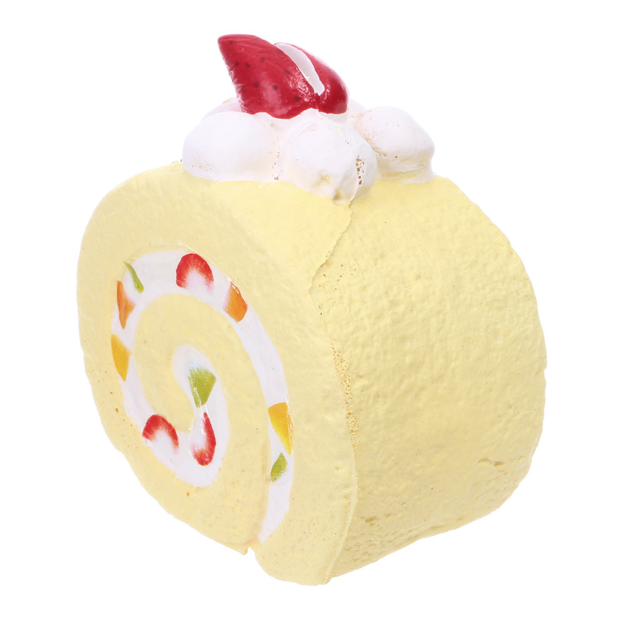 Café De N Scented Fruit Chiffon Roll Cake Squishy Toys Charms ( Side View )