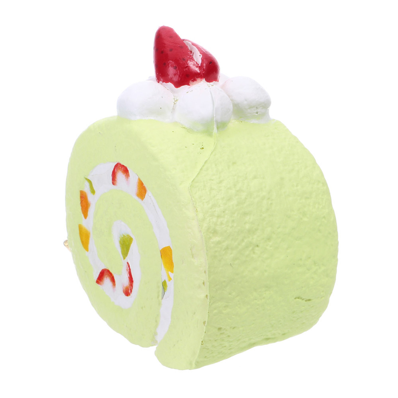 Café De N Scented Matcha Green Tea Roll Cake Squishy Toys Charms ( Side View )