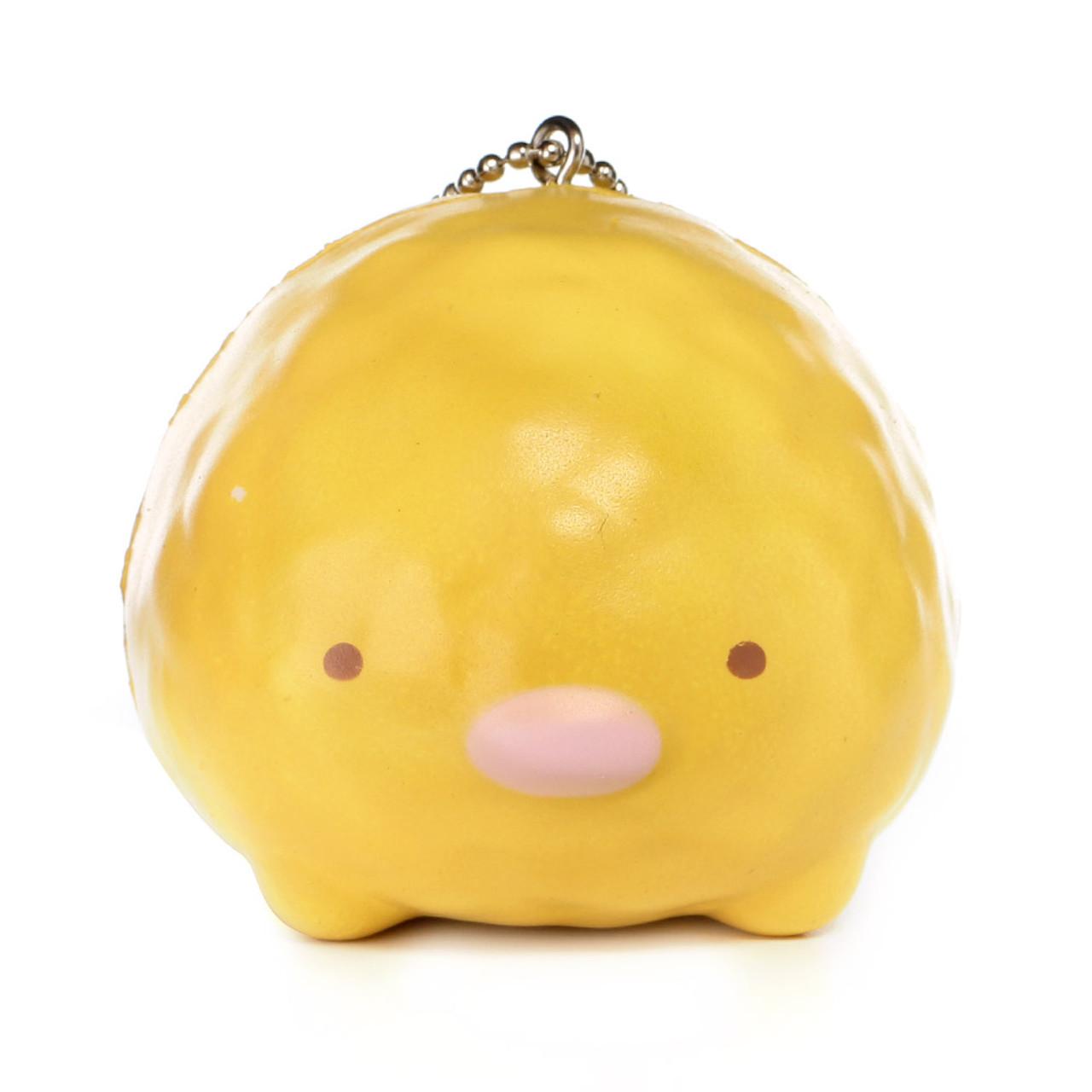 San-x Sumikko Gurashi Tsum Tsum Style Tonkatsu Pork Cutlet Squishy Toys Charms ( Front View )