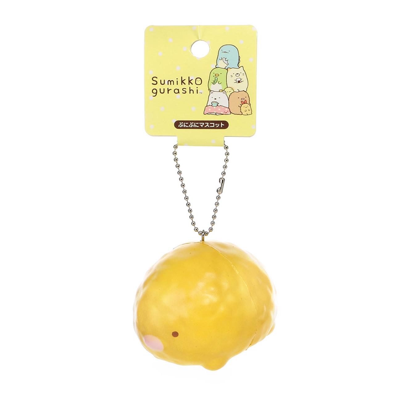 San-x Sumikko Gurashi Tsum Tsum Style Tonkatsu Pork Cutlet Squishy Toys Charms ( Tag Front View )