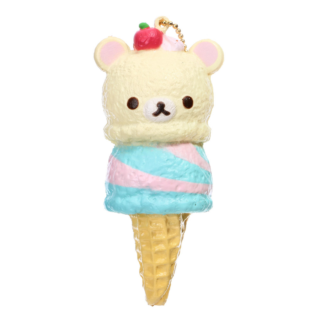 San-x Korilakkuma Berry Mint Double Ice-cream Squishy Charms ( Front View )