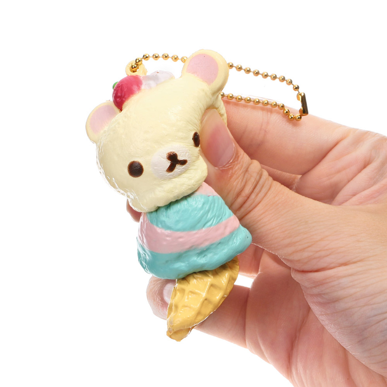 San-x Korilakkuma Berry Mint Double Ice-cream Squishy Charms ( Squeezing & Proportion )