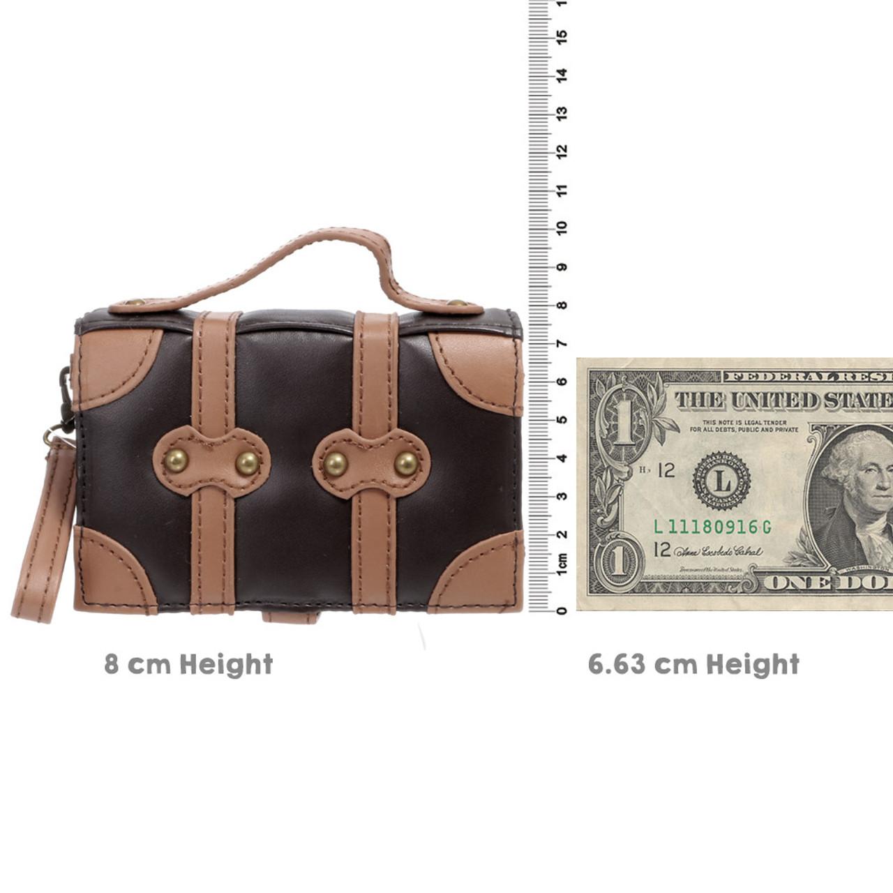 Japan Seto-Craft Motif Dark Brown Color Trunk Shape Key & Coin Case ( Proportion )
