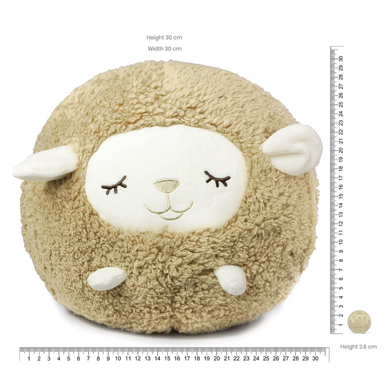 Liv Heart Brown Maple Sheep Doll Cushion ( Proportion )