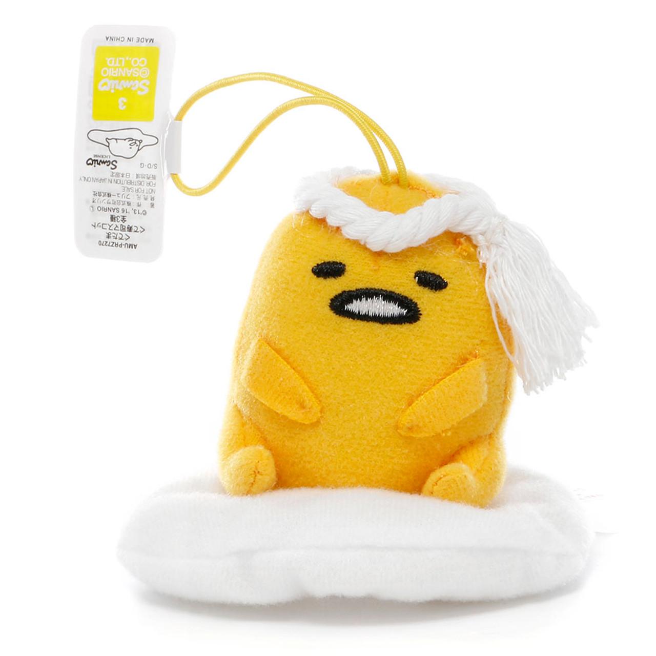 Sanrio Gudetama Lazy Egg Sushi Mascot Plush Charms - Chef ( Front View )
