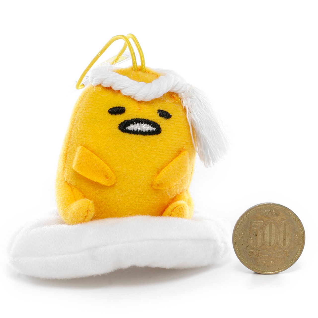 Sanrio Gudetama Lazy Egg Sushi Mascot Plush Charms - Chef ( Proportion )