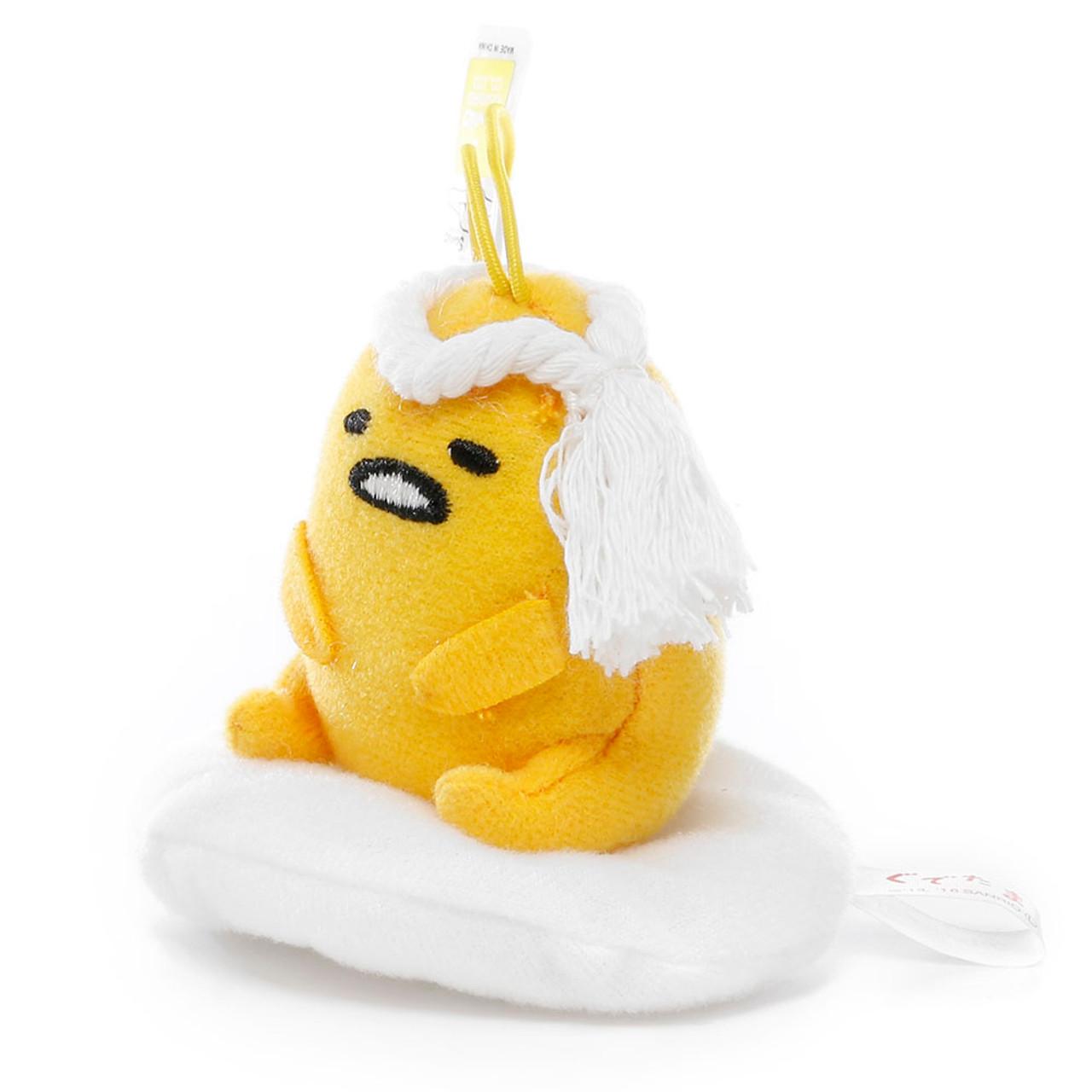 Sanrio Gudetama Lazy Egg Sushi Mascot Plush Charms - Chef ( Side View )