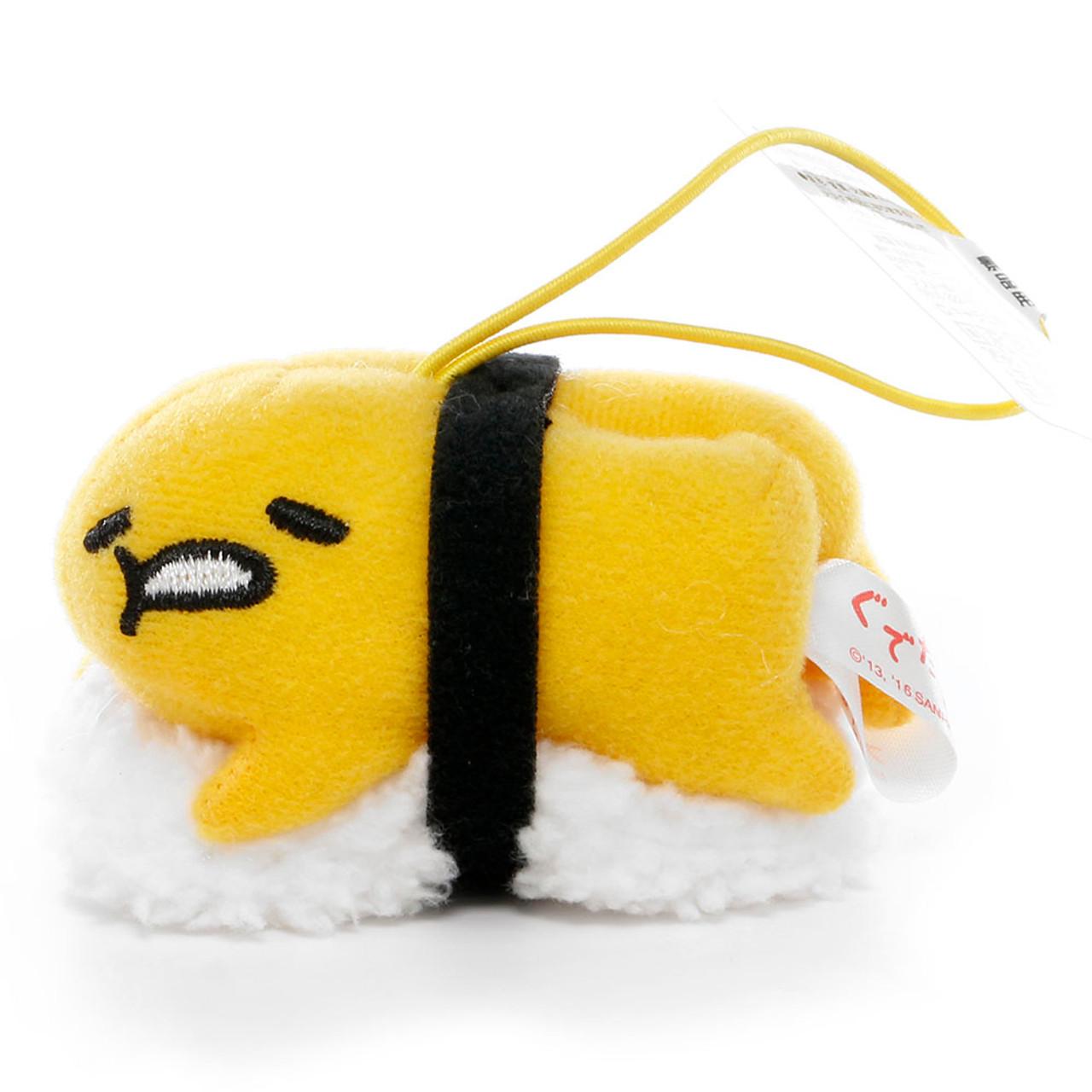 Sanrio Gudetama Lazy Egg Sushi Mascot Plush Charms - Yolk Sushi ( Front View )