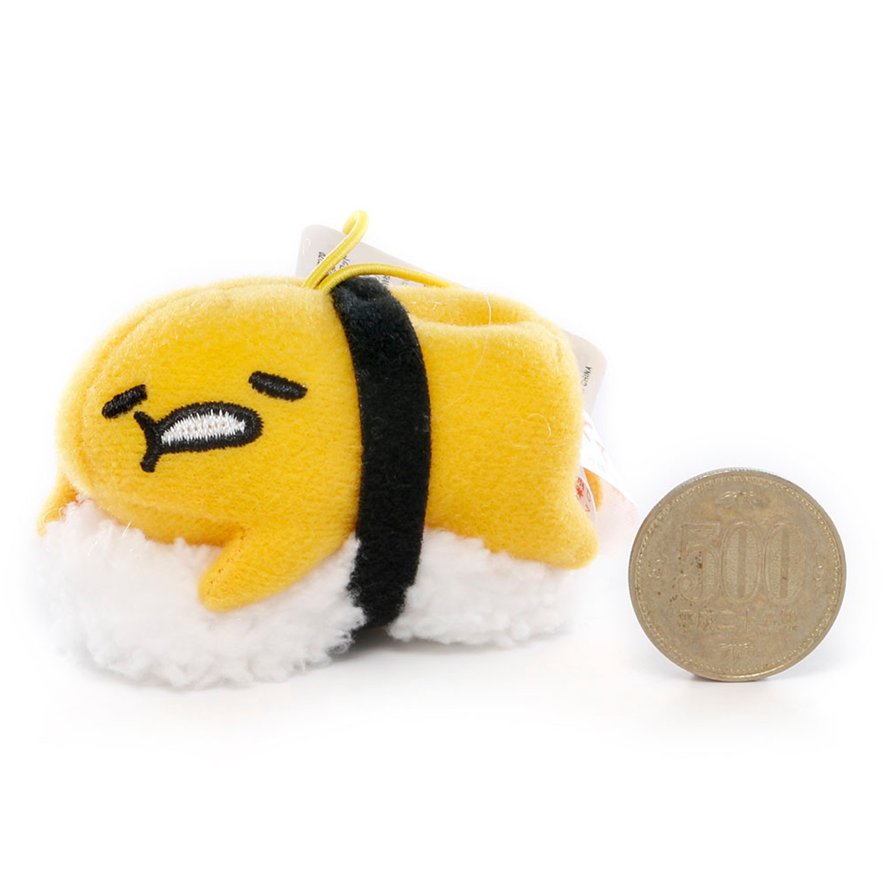 Sanrio Gudetama Lazy Egg Sushi Mascot Plush Charms - Yolk Sushi ( Proportion )