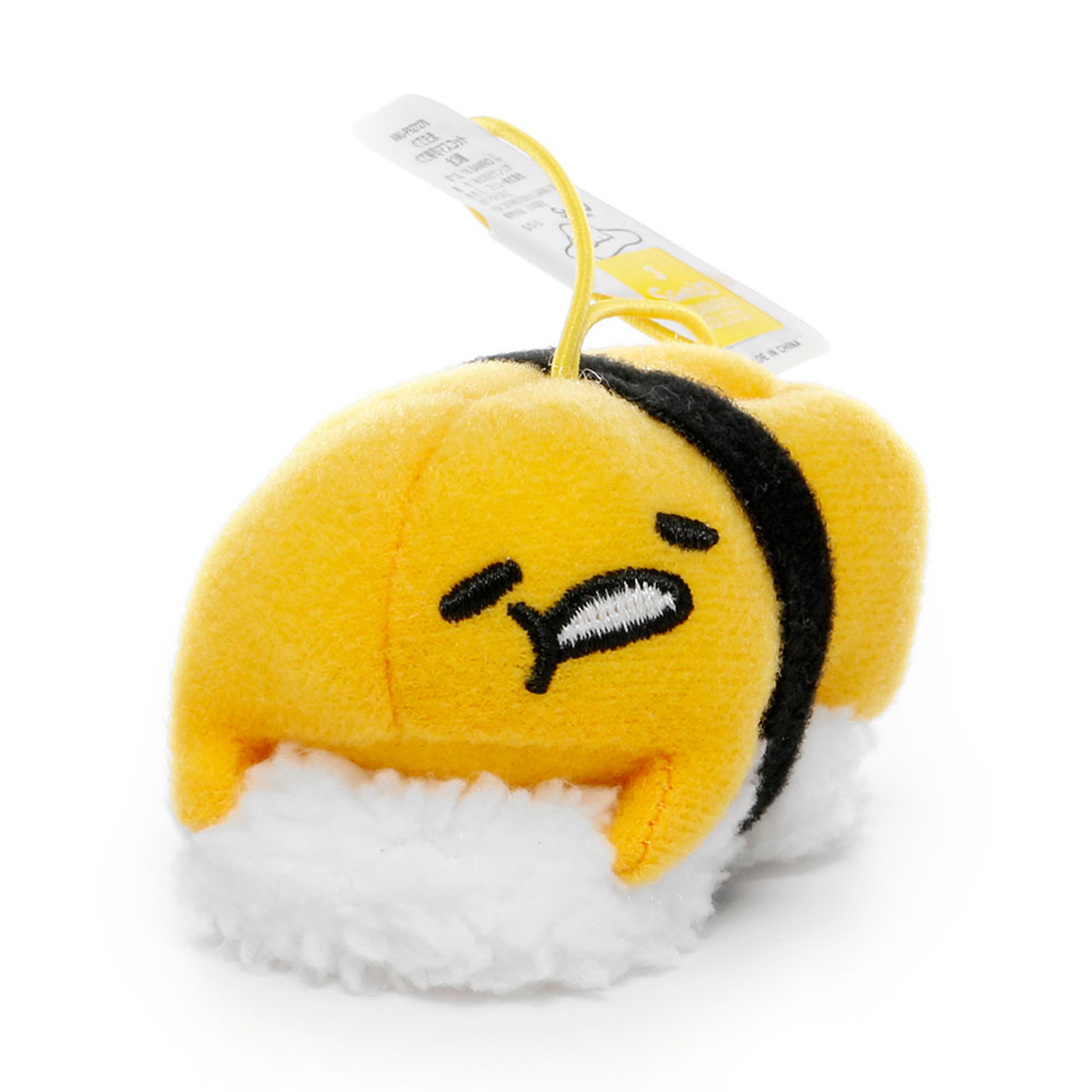 Sanrio Gudetama Lazy Egg Sushi Mascot Plush Charms - Yolk Sushi ( Side View )