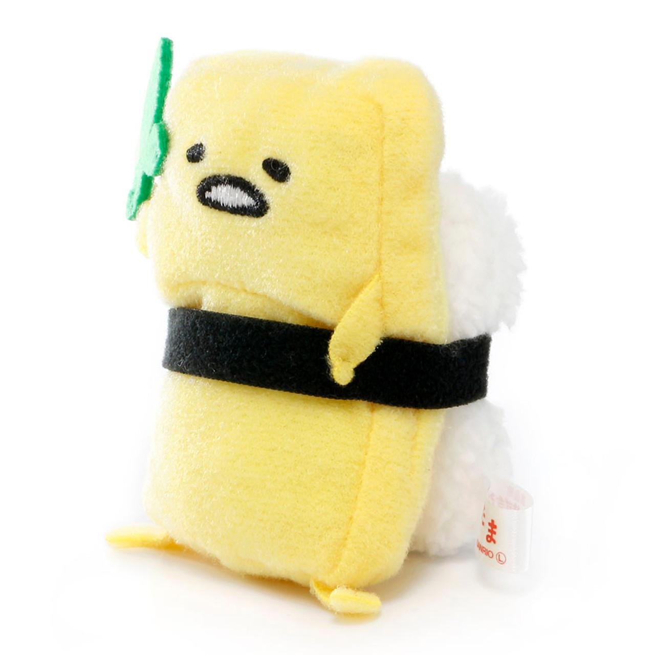 Sanrio Gudetama Lazy Egg Sushi Mascot Plush Charms - Japan Scrambled Sushi ( Side View )