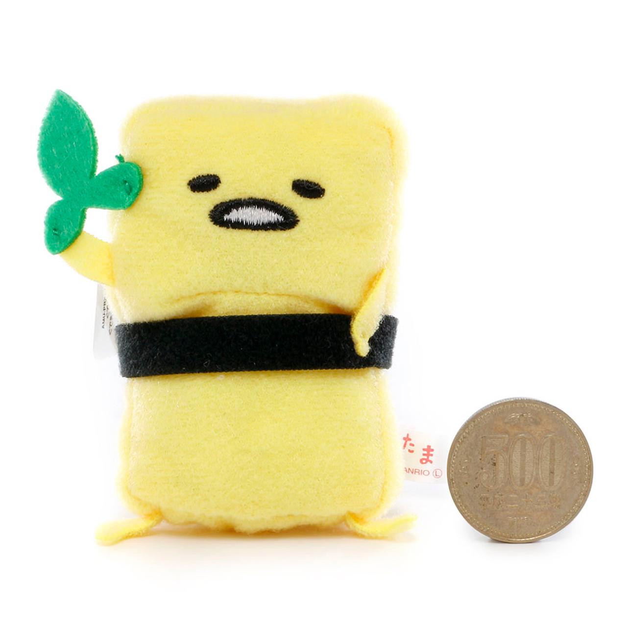 Sanrio Gudetama Lazy Egg Sushi Mascot Plush Charms - Japan Scrambled Sushi ( Proportion )