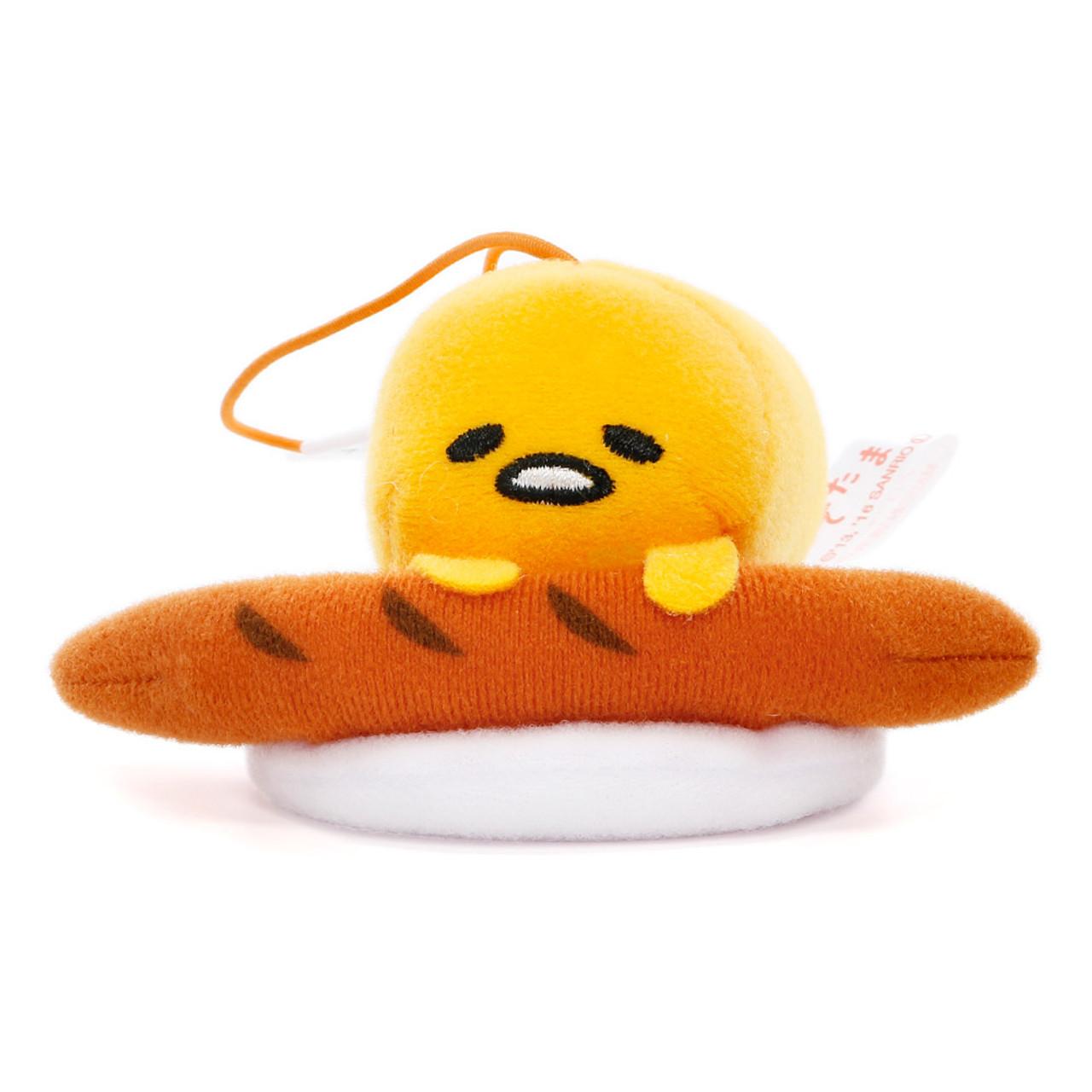Sanrio Gudetama Lazy Egg Sleeping Mascot Plush Charms - Sausage ( Front View )