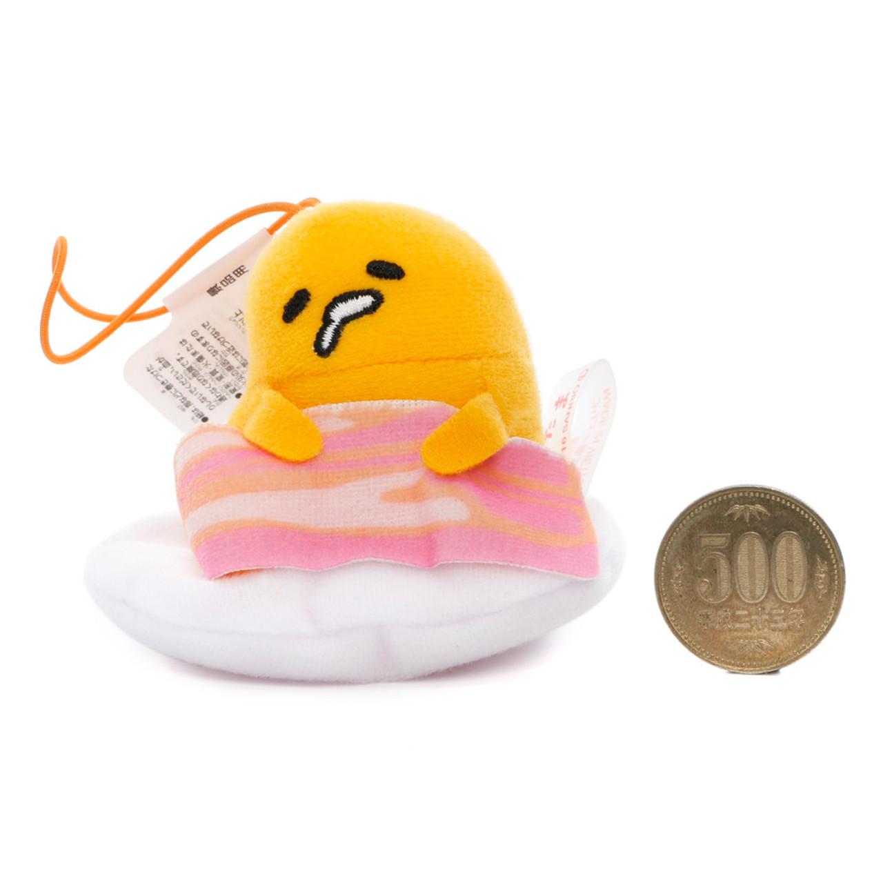 Sanrio Gudetama Lazy Egg Sleeping Mascot Plush Charms - Bacon ( Proportion )