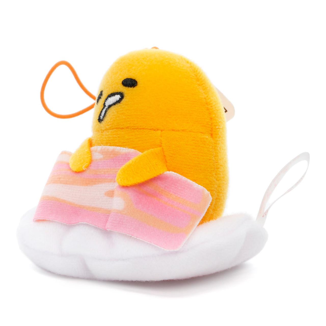 Sanrio Gudetama Lazy Egg Sleeping Mascot Plush Charms - Bacon ( Side View )