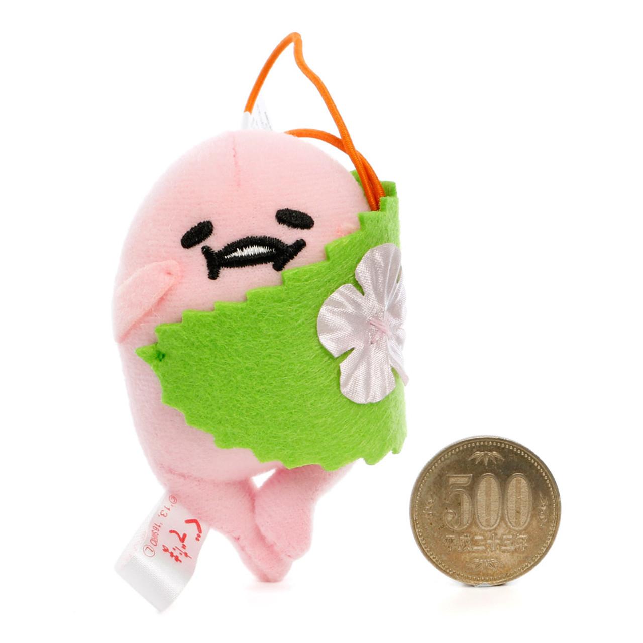 Sanrio Gudetama Lazy Egg Sakura Mascot Plush Charms - Cherry Blossom Rice Cake ( Proportion )
