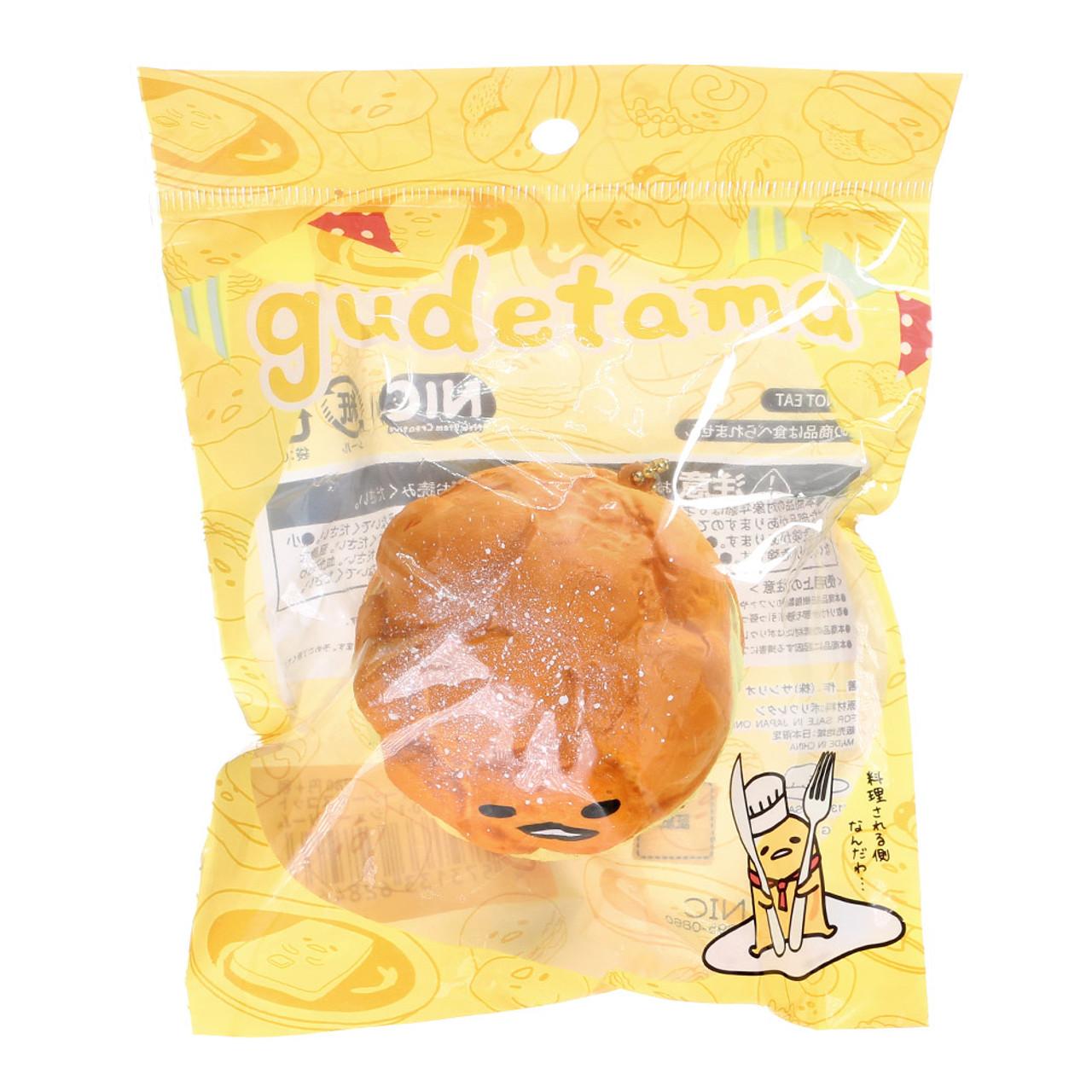 Sanrio Gudetama Lazy Egg Cream Puff Squishy Mascot Toys Charms