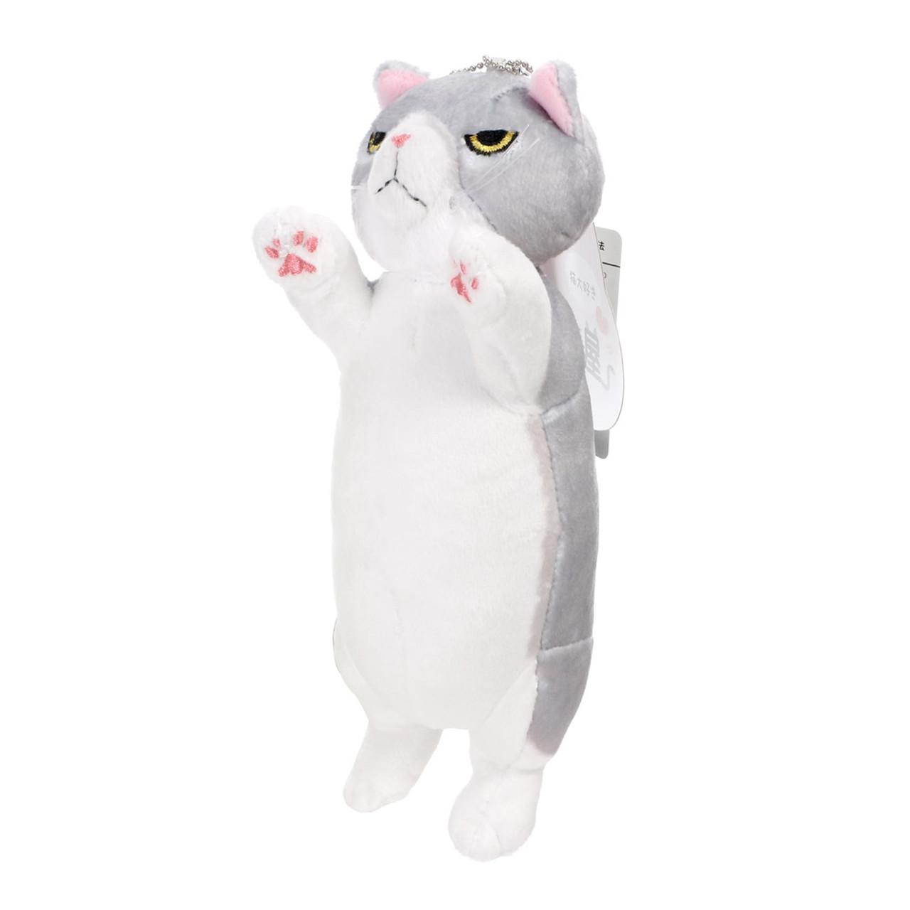 Japan Nyanko Shop Grey Color Cat Mascot Plush Doll Charms British