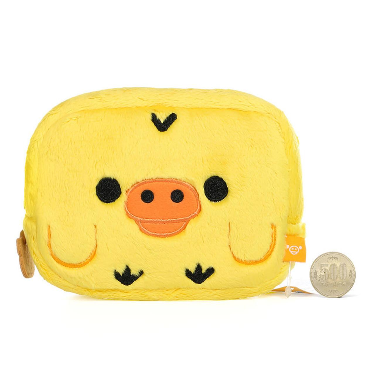 San-x Kiiroitori Yellow Chick Rectangle Face Plush Cosmetic Pouch ( Proportion )