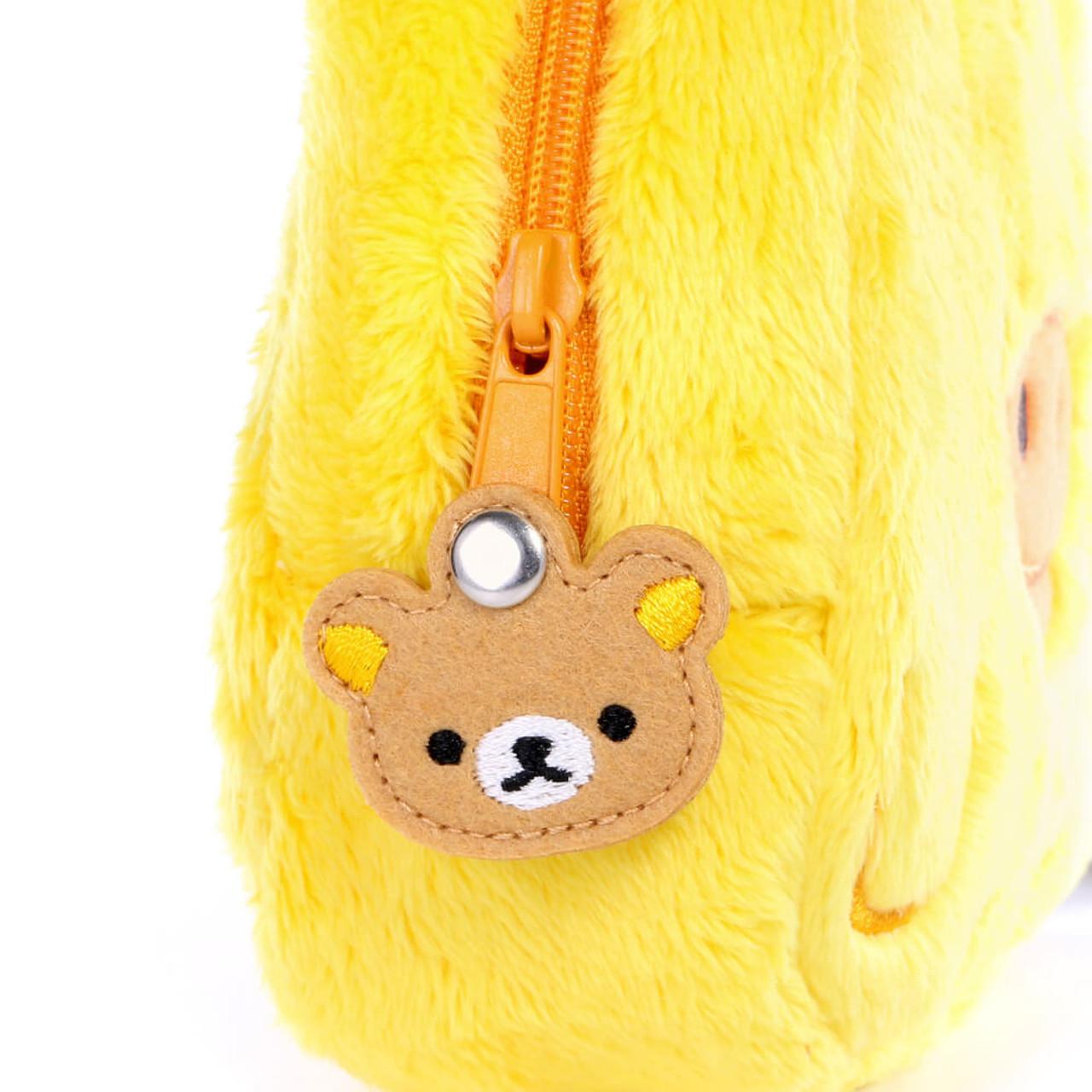 San-x Kiiroitori Yellow Chick Rectangle Face Plush Cosmetic Pouch ( Feature 01 )