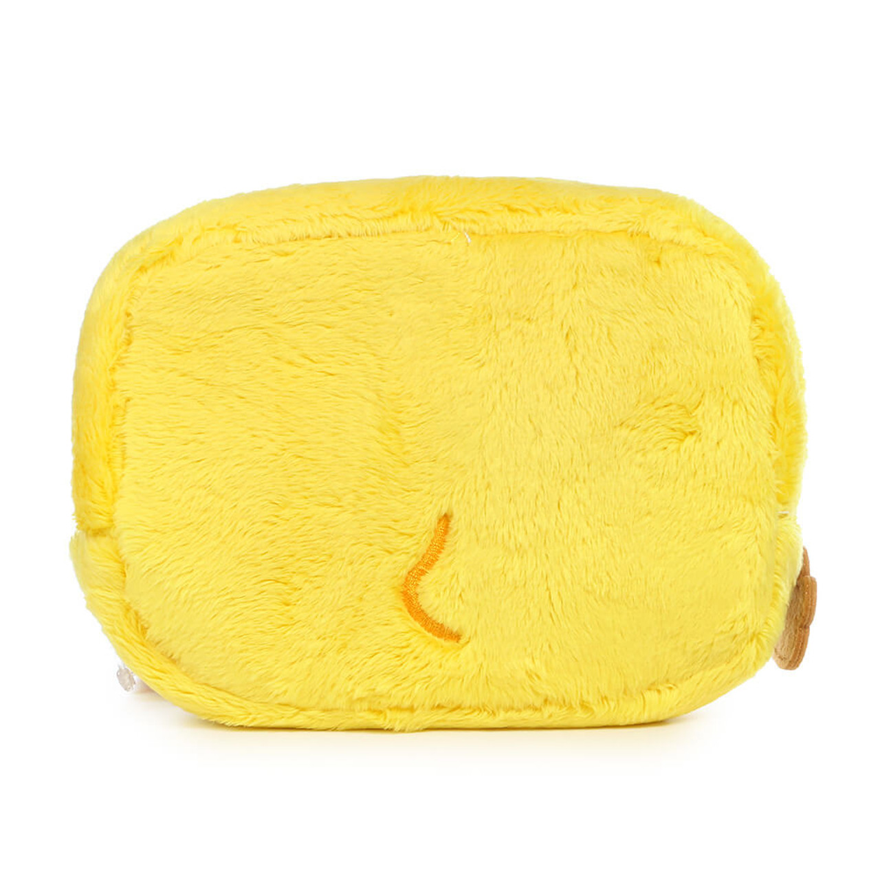 San-x Kiiroitori Yellow Chick Rectangle Face Plush Cosmetic Pouch ( Back View )