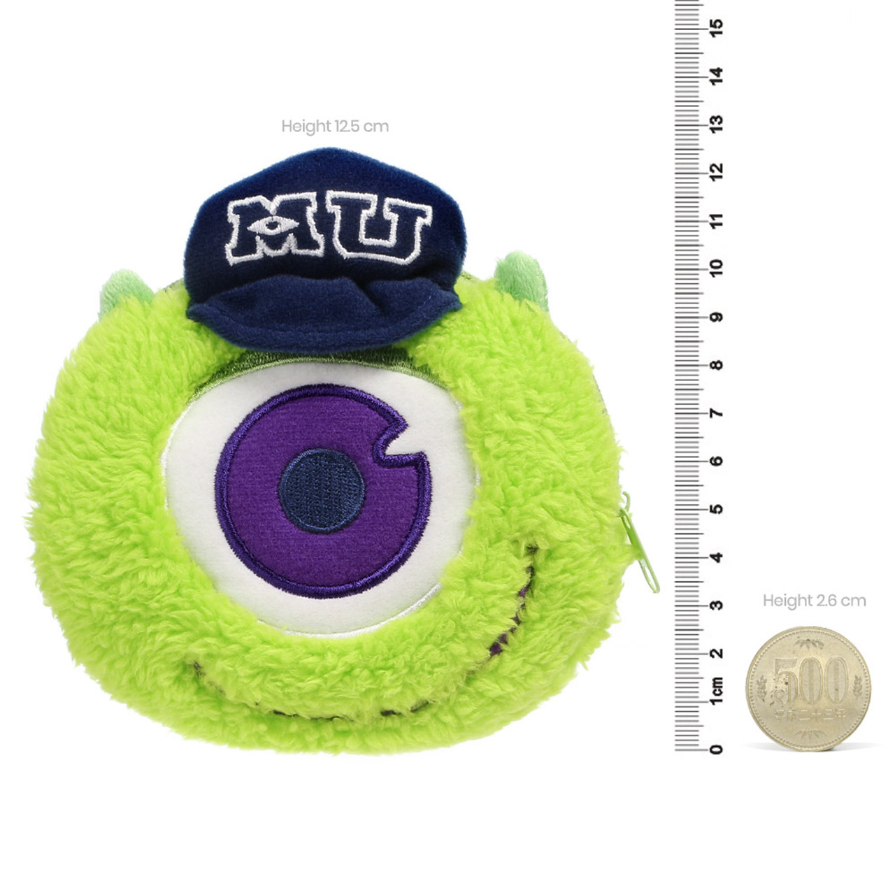 Pixar Monster University Mike Fluffy Plush Pouch ( Proportion )