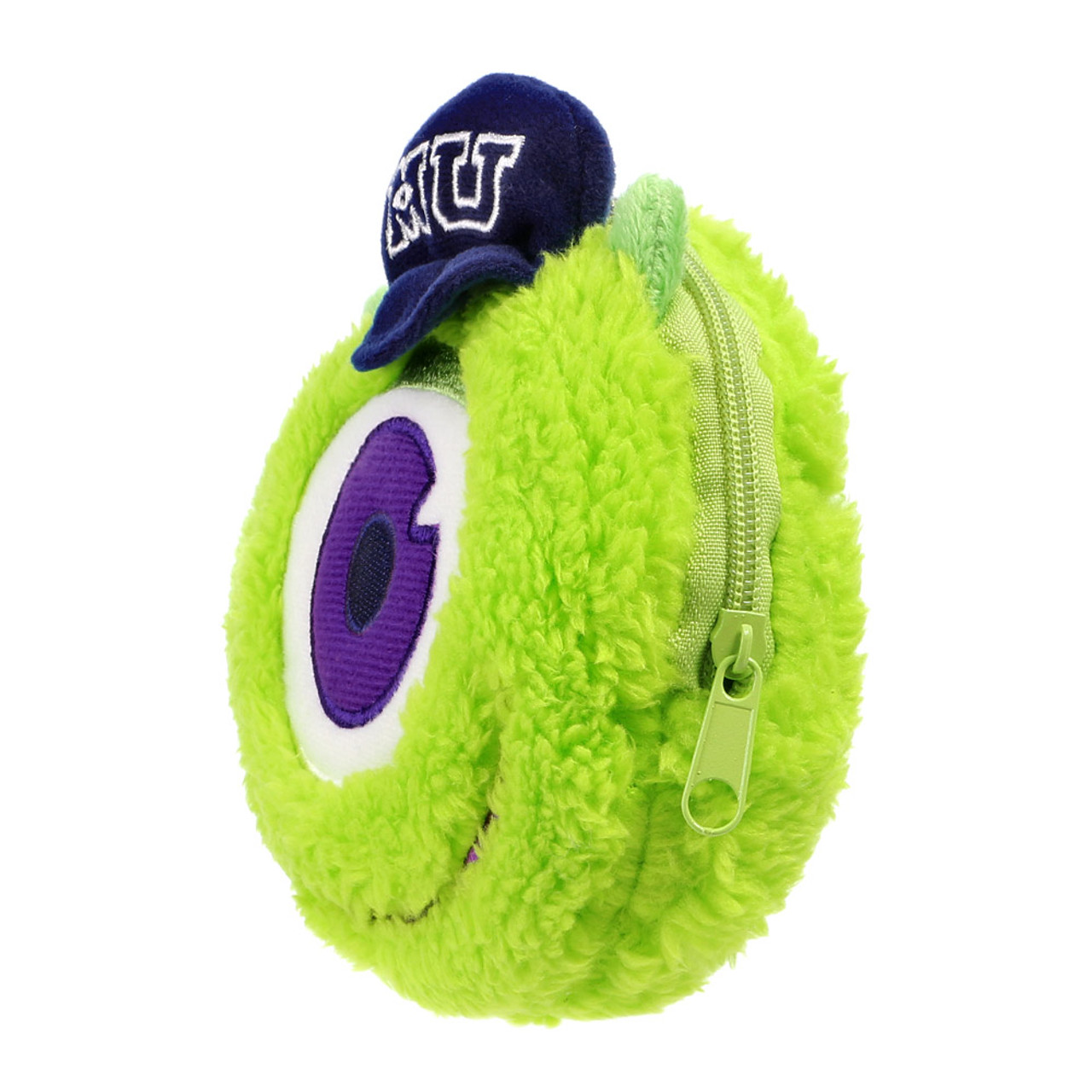 Pixar Monster University Mike Fluffy Plush Pouch ( Side View )